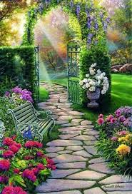 The Mystical Garden Path | Uploaded to Pinterest | Beautiful gardens,  Summer landscape, Beautiful nature wallpaper