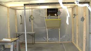 paint booth setup in a garage you