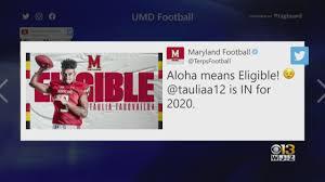 Maryland Football Announces Taulia ...