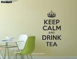 Mad World Keep Calm And Drink Tea Wall Art Stickers Wall Decals Home Diy Decoration Removable Room Decor Wall Stickers Wall Stickers Aliexpress