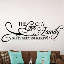 Family Love Listen Share Be Kind Forgive Vinyl Decal Wall Sticker Words Letters