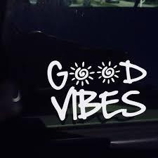 Good Vibes Decal Vinyl Sticker For Macbook Pro Ipad Car Etsy