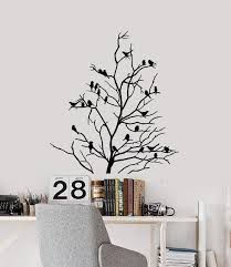 Vinyl Wall Decal Bare Tree Birds Branches Living Room Decor Art Sticke Wallstickers4you