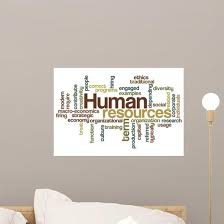 Human Resources Word Cloud Wall Decal Wallmonkeys Com
