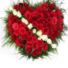 send romantic red roses heart
