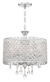 light modern drum crystal chandelier