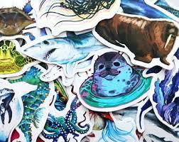 Ocean Life Decal Etsy