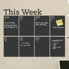 Simpleshapes Weekly Calendar Chalkboard Wall Decal Wall Decals Chalkboard Wall Decal Weekly Chalkboard Calendar