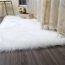 white faux fur rug soft faux sheepskin