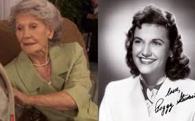 Pam's grandmother Mee-Maw was played by actress Peggy Stewart. She passed  away in 2019 at the age of 95. [The photo on the right is Mee-Maw in her  younger days]. RIP Mee-Maw! <