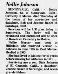 Obituary for Nellie Johnson (Aged 83) - Newspapers.com