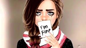 صور بنات كرتون حزينه الحزن فالقلب للبنت صعب الحبيب للحبيب