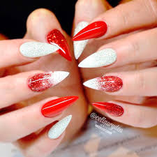20 vibrant red acrylic nail designs
