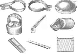 Hot Dip Galvanized Chain Link Fence Fittings And Accessories Rust Resistance