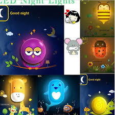 Cute Baby Nice Sleeping Led Night Light Kids Room Night Light With Decoration Wall Sticker Children Bedroom Night Lamp Light Light Brick Light Purselight Dog Aliexpress