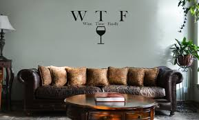 Funny Wtf Wine Time Finally Parody Alcohol Vinyl Wall Mural Decal Home Decor Sticker