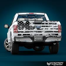 Distressed Flag Tailgate Decal