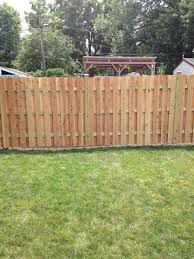 Home Made Fence Used Pea Gravel Under The Fence As A Line For The Property Backyard Pea Gravel Fence