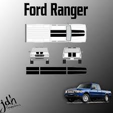 Ford Ranger Rally Racing Stripes Vinyl Decal Sticker Graphics Kit Truck 59 90 Picclick