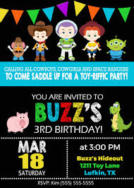 Toy Story Birthday Invitation Cumpleanos De Toy Story