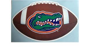 Amazon Com Florida Gators Football Car Decal Uf Gator Auto Window Sticker Sports Outdoors