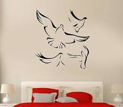 Wall Decal Flock Of Birds Flying Wings Dove Heaven Vinyl Stickers Ed230 Ebay