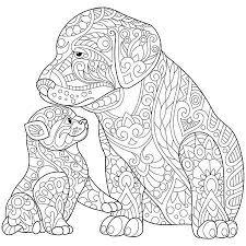 Gestileerde Vos Wolf Of Hond Geisoleerd Op Een Witte