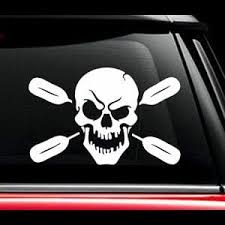 Skull Oars Kayak Window Decal Sticker Custom Sticker Shop