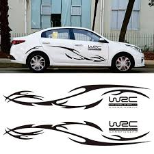 Car Side Stickers Wave Stripe Hood Sticker Racing Sports Decal Auto Vinyl Film Stickers Universal Car Accessories Car Stickers Aliexpress