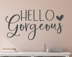 Hello Wall Decal Etsy