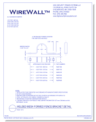 Round Post System Welded Mesh Formed Fence Bracket Detail Page 1 Of 2 Caddetails