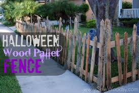 Halloween Wood Pallet Fence Sew Woodsy