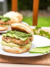 bubba veggie burger with cilantro