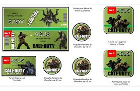 Kit Editable Cumpleanos Call Of Duty Imprimible 130 68 En