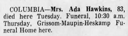 Obituary for Ada Hawkins (Aged 83) - Newspapers.com