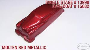 molten red metallic 3 1 single stage paint