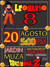 Invitacion Dragon Ball Invitaciones De Cumpleanos Gratis Crear