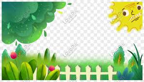Green Theme Border With Fence And Plant Under The Sun Png Image Picture Free Download 610869782 Lovepik Com
