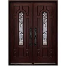 craftsman double exterior doors stained