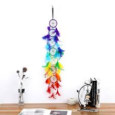 Newest Rainbow Colored Dream Catcher Indian Feather Hanging Drop Dreamcatchers For Home Wall Living Room Nursery Kids Bedroom Party Interior Design Bedroom Interior Design Blogs From Mifangtopdealer 7 54 Dhgate Com