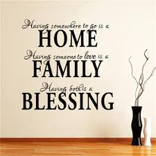 hot fashion removable quotes home family decals home family
