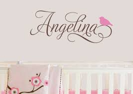 Personalized Name Decal With Bird For Girls Nursery Wall Etsy