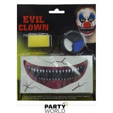 creepy carnival creepy clown makeup set