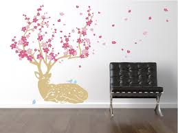 Cherry Blossom Deer Wall Decals The Decal Guru
