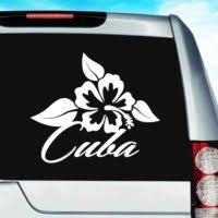 Cuba Vinyl Car Window Decals Stickers Caribbean Decals Stickers