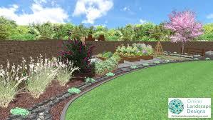 landscape designs 2d and 3d garden