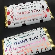 foiled teacher chocolate bar wrapper