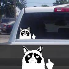 Car Decal Sticker Cut Grumpy Cat Claw Nail Middle Finger Flipping Off Automobiles Car Styling Buy At A Low Prices On Joom E Commerce Platform