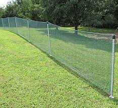 Outfield Safety Fence Net 4ft X 150ft W Posts Outfield Fences