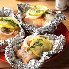 Lemon-Dill Salmon Packets Recipe ...